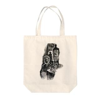 喪服の中年 Tote bags