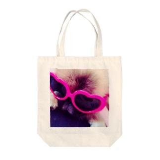 Apollo ハートのサングラス Tote bags