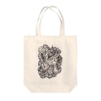 植物風タングル Tote bags