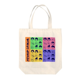 my hair catalog Tote bags