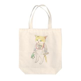 赤ちゃんニャンコ Tote bags