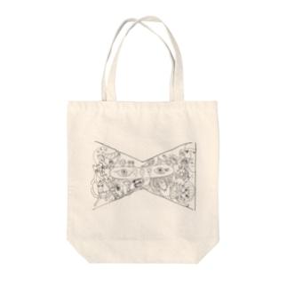 カオスなリボン Tote bags