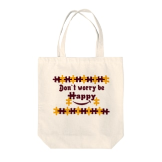 ジグソースマイル Tote bags