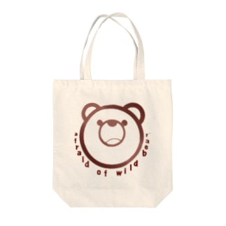 afraid of wild bear. Tote bags