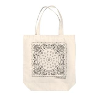 おやまくまバンダナ(グレー) Tote bags