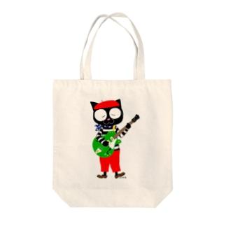 黒猫のビーが Tote bags
