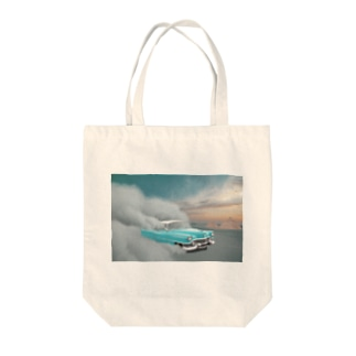 空飛ぶ車 Tote bags