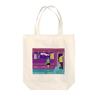 WHERE THE FIRE? Tote bags