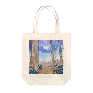 冬のはじまり Tote bags