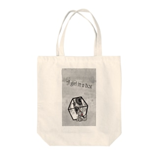 A girl in a box Tote bags