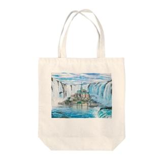 モンサンミッシェルinナイアガラの滝 Tote bags