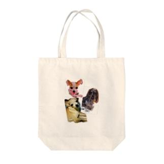 可愛い愛犬 Tote bags