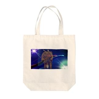 ぼくと恐竜 Tote bags