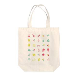 pastel icons Tote bags