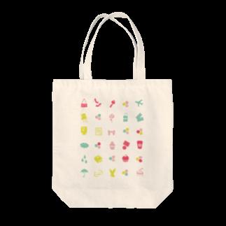 3pondSのpastel icons Tote bags