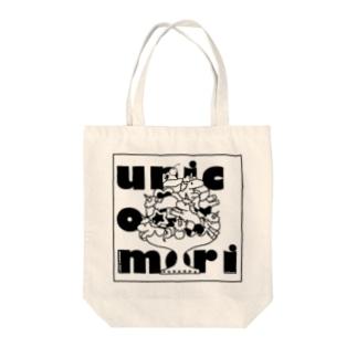 ユニコーン盛りモノクロ Tote bags