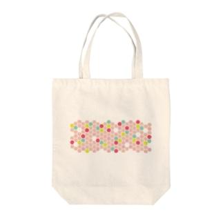 pink honeycomb トートバッグ