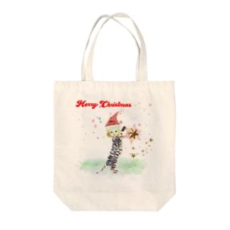 メリークリスマス ちびねこ Tote bags