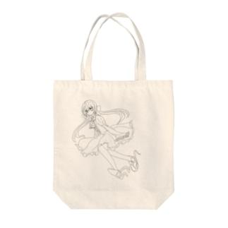ツイン子 Tote bags