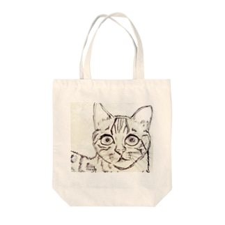 ネコA Tote bags