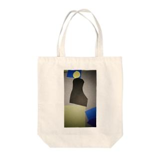 灰色に潜む密かな人 Tote bags
