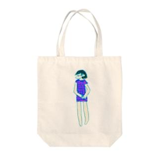 じとめの女の子 Tote bags