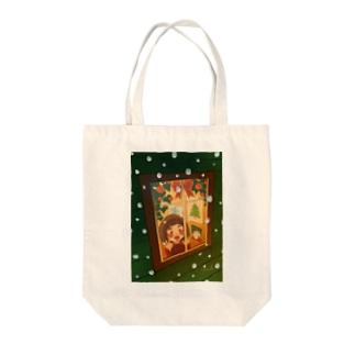 サンタさんくるかな Tote bags