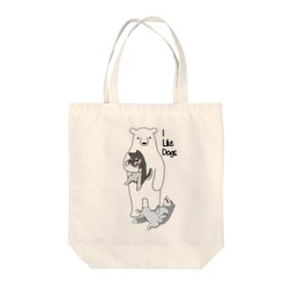 犬好きクマ Tote bags