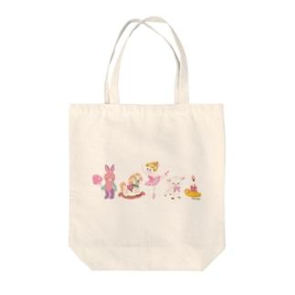 ホリデー展Toy'sガール Tote bags