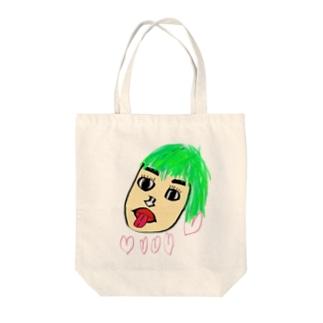 もさ子ちゃん Tote bags