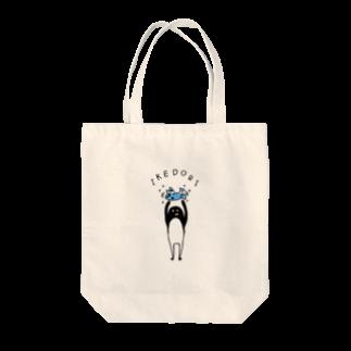 PokuStarの生け捕りするペンギン Tote bags