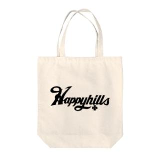 Happyhillsふくおか(黒) Tote bags