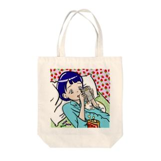 ゲーム女の子 Tote bags