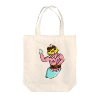 スイーツマン Tote bags