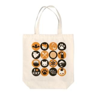 猫とアイコン Tote bags
