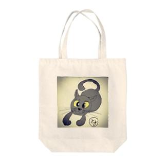 ミチル(黒猫)とゆかいな仲間 Tote bags