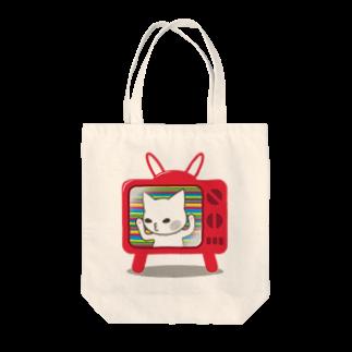 ミケネコロックの2次元から出られない猫 Tote bags