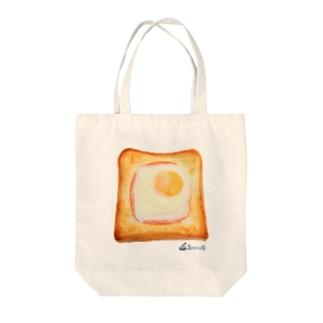 エッグトースト Tote bags