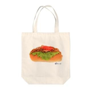 ヤキソバパン Tote bags