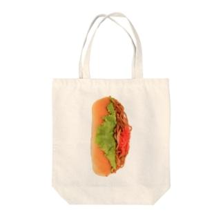 ヤキソバパン・タテ! Tote bags