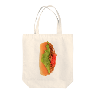 3pondSのヤキソバパン・タテ! Tote bags