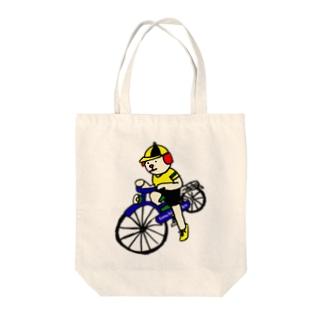 ウクちゃんと自転車 Tote bags