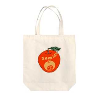 中林ういの三水家の人々 絵文字りんご Tote bags