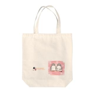 ふたごのジェンツーペンギン(キラキラロゴつき) Tote Bag