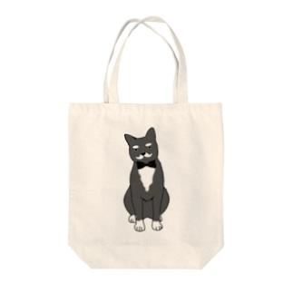 紳士ネコ Tote bags