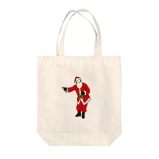 SCC DESIGN WORKSの誘惑サンタ Tote bags
