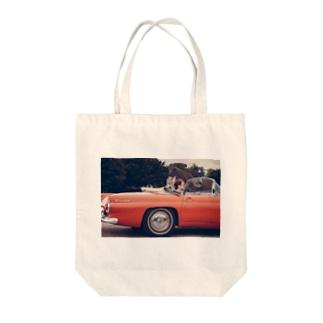 Open Car Tote bags