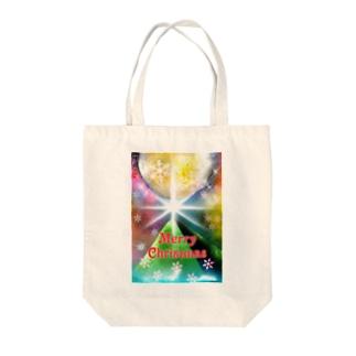 宇宙でメリークリスマス1 Tote bags