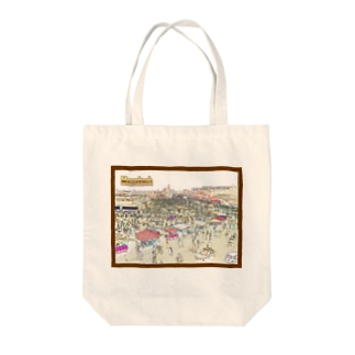 CG絵画:マラケシュのジャマ・エル・フナ市場 CG art: Jemaa el-Fnaa of Marrakesh Tote bags