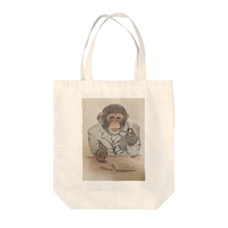 粋なチンパンジー Tote bags